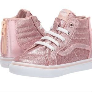 Girls Sk8-Hi Zip Glitter Vans Shoes